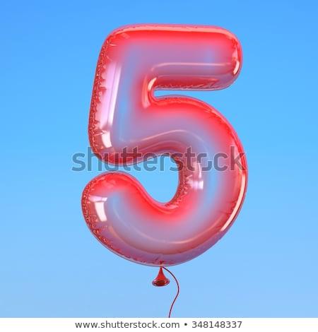 number five balloon on sky stock photo © colematt