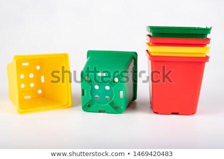 empty flowerpot on white stock photo © make