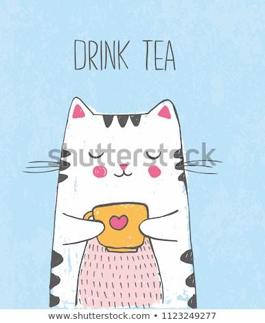 bebida · quente · decorado · rabisco · ilustrações · café - foto stock © ra2studio