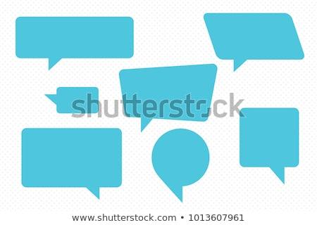 Chatear burbuja signo símbolo vector retro Foto stock © vector1st