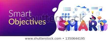 SMART Objectives concept banner header. Stock photo © RAStudio