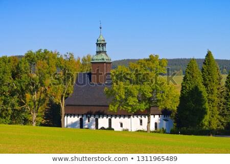 fortified church in Lauterbach in the Erzgebirge Stock photo © LianeM