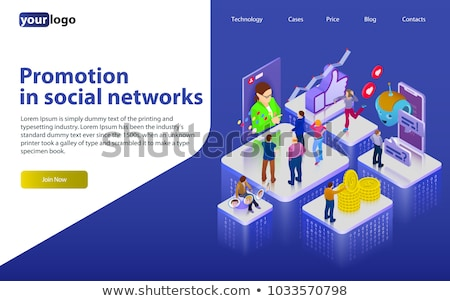 Social networks promotion app interface template. Stock photo © RAStudio