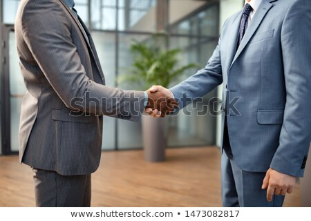 Hands of business partners greeting each other by meeting or after negotiation Stock photo © pressmaster