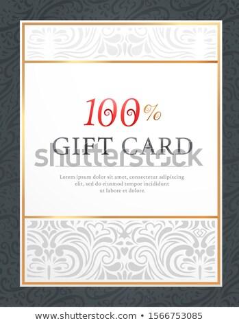 Affiche carte postale 100 pour cent modèle vecteur Photo stock © robuart