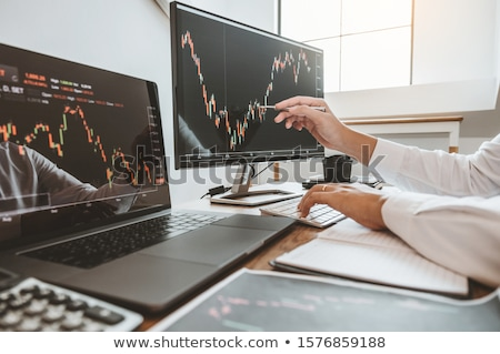 ビジネスチーム 投資 取引 分析 ストックフォト © snowing