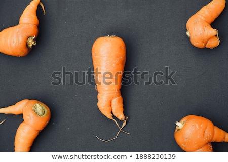 Augmenté carottes table en bois nature feuille Photo stock © olira