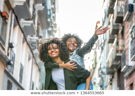 Cute backlit friendly young teenage woman Stock photo © Giulio_Fornasar