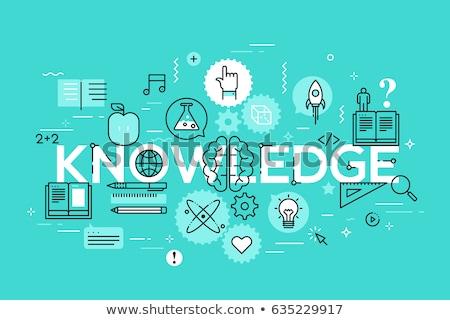 Tudományos tanulás szó szalag terv tudomány Stock fotó © barsrsind