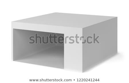 Fülke bolt 3d illusztráció izolált fehér üzlet Stock fotó © montego