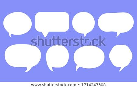 Balão de fala conjunto conversar mensagem nuvem falar Foto stock © FoxysGraphic