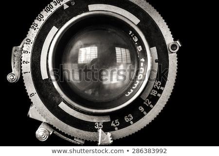 Stock photo: vintage Camera lens