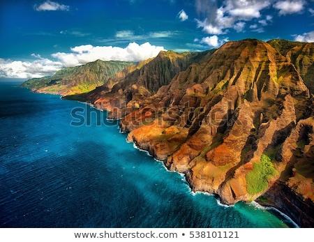 marina · hegyek · gyönyörű · kilátás · hegy · terjedelem - stock fotó © backyardproductions