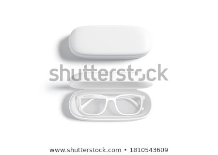 Szemüveg tok izolált fehér kapcsolat törődés Stock fotó © DeCe