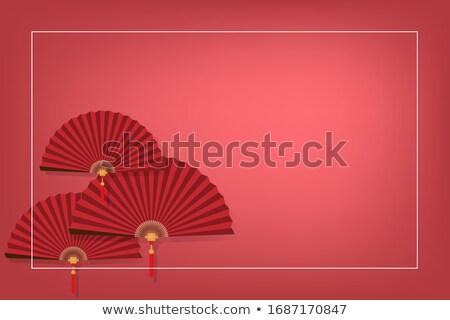 Chińczyk czerwony projektu podróży kolor Zdjęcia stock © billperry