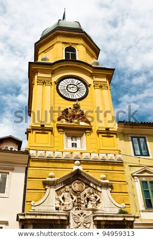 bell tower with clock in rijeka croatia stock photo © anshar