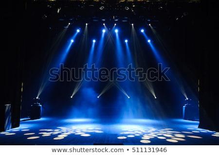 этап · освещение · Места · освещение · музыку · синий - Сток-фото © zzve