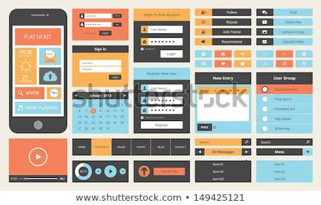 modern · mobiltelefon · felhasználó · interfész · sablon · ui - stock fotó © orson