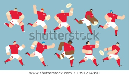 Welsh Rugby player passing ball Stock photo © patrimonio