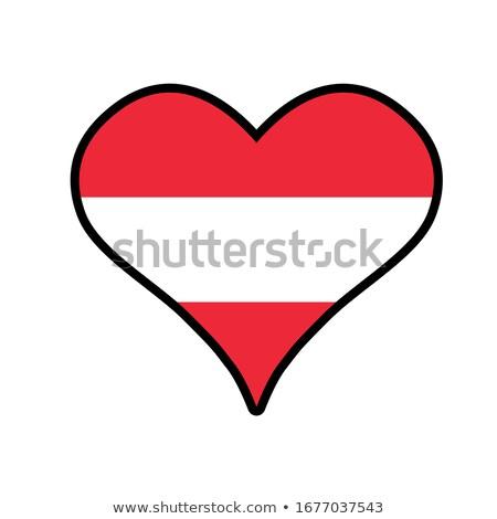 フラグ アイコン webボタン オーストリア 孤立した 白 ストックフォト © mizar_21984