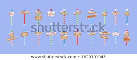 vermelho · vetor · poste · de · sinalização · assinar · espaço · tráfego - foto stock © burakowski
