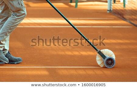 Takarítás vonal teniszpálya vonalak sport tenisz Stock fotó © smuki