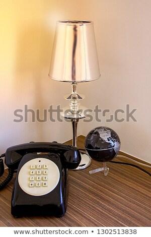 Vintage стиль лампы полированный деревянный стол бизнеса Сток-фото © Nejron