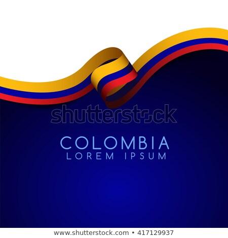 Colômbia bandeira idéia projeto mundo Foto stock © kiddaikiddee