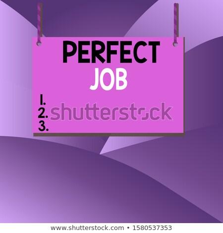Werknemer tevredenheid Zoek string aanvragen vinger Stockfoto © tashatuvango