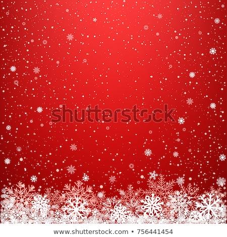 Dark Red Snowflakes Stock photo © hlehnerer