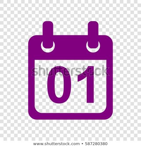 Calender Sign Purple Vector Icon Button Stock photo © rizwanali3d