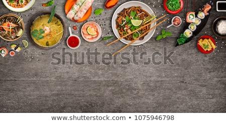 Stock fotó: Kína · finom · étel · liba · háló · mártás