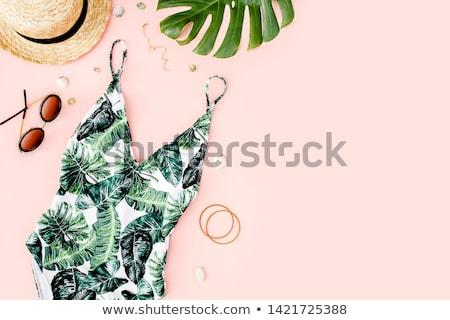 Fürdőruha gyönyörű fiatal nő fehér lány Stock fotó © disorderly