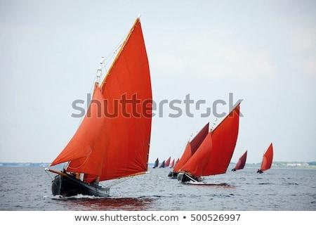 öreg · hajó · Írország · halszem · lencsék · tenger - stock fotó © igabriela