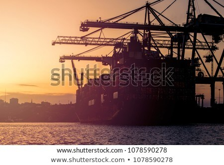 Gemi liman kanal gün batımı liman Stok fotoğraf © EFischen
