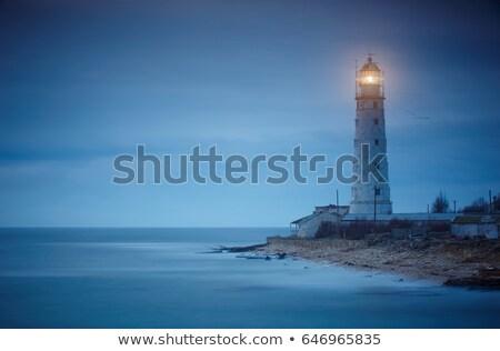 灯台 海 日没 ニューカッスル 水 ストックフォト © clearviewstock