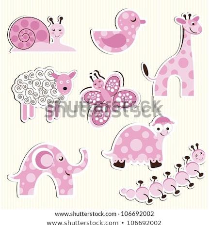 Cute Baby weiblichen rosa Schnecke Illustration Stock foto © adrenalina