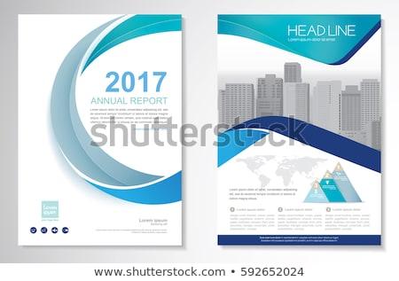 Blu moderno società brochure vettore design Foto d'archivio © SArts
