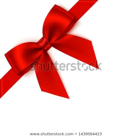 piros · ünnepi · közelkép · szalag · izolált · ikon - stock fotó © studioworkstock