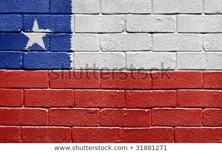 Chile zászló fal illusztráció háttér művészet Stock fotó © colematt