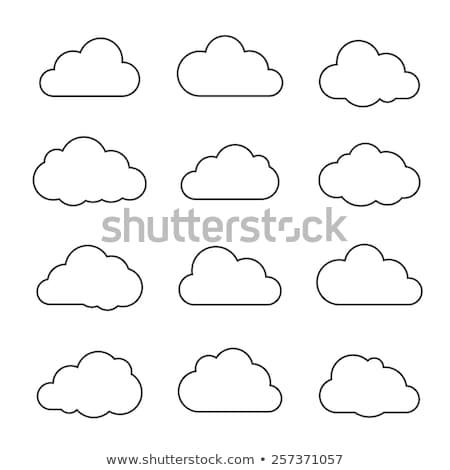 cloud · hosting · línea · icono · vector · aislado · blanco - foto stock © blaskorizov