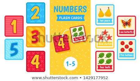 Math number count worksheet Stock photo © colematt