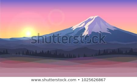 Mount Fuji ilustracja górskich Japonia tle asia Zdjęcia stock © Blue_daemon