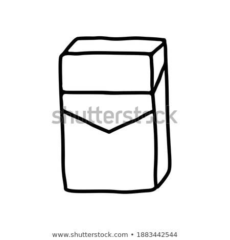 biztonság · doboz · vektor · művészet · rajz · firka - stock fotó © vector1st