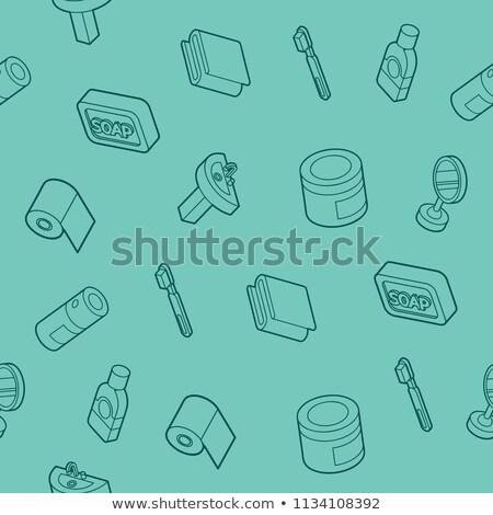 Persoonlijke hygiëne isometrische patroon eps 10 gezondheid Stockfoto © netkov1