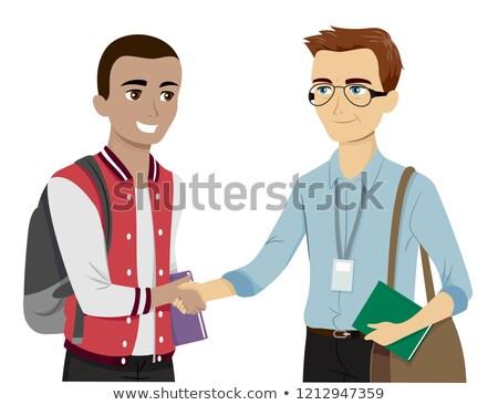 подростков парень встретиться профессор иллюстрация Сток-фото © lenm