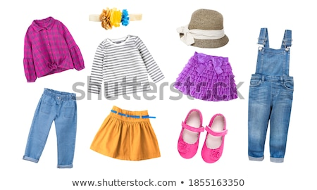 collection of baby and children clothes collection stock photo © margolana