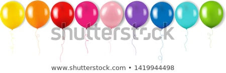 Color Garland With Balloons Isolated White Background Stock photo © barbaliss