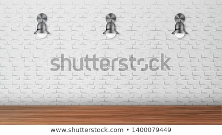 Design Black Sconces On White Brick Wall Vector Stock photo © pikepicture