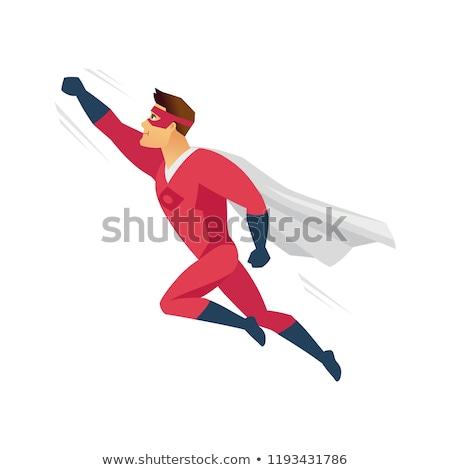 Adam kahraman maske işadamı destek vektör Stok fotoğraf © robuart